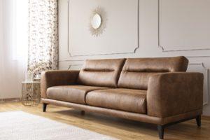 Sofá tapizado en piel de la colección Gea. Sofás a medida ¿Cuánto cuestan?